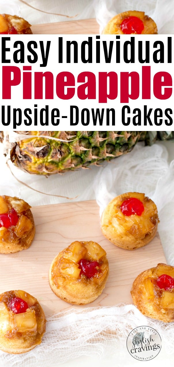 Easy Individual Pineapple Upside-Down Cakes