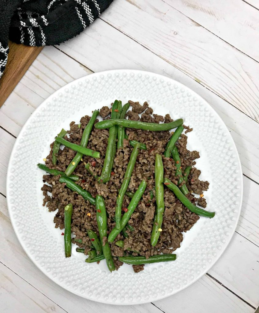 Keto Ground Beef and String Beans
