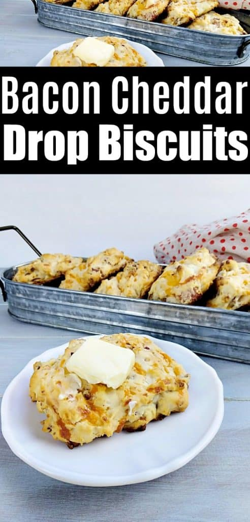 Easy Bacon Cheddar Drop Biscuits