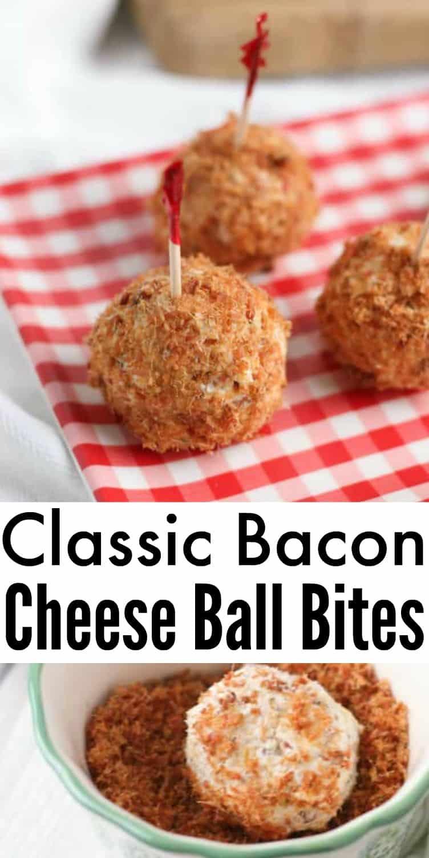 Bacon Cheese Ball Bites