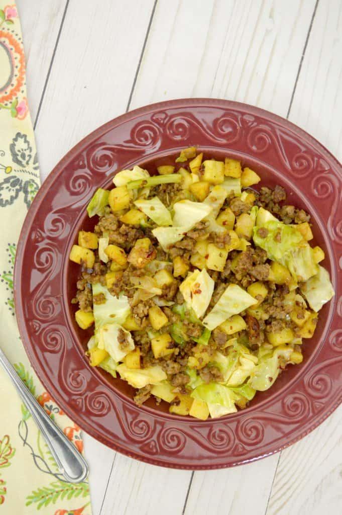 Sausage & Cabbage Potato Hash