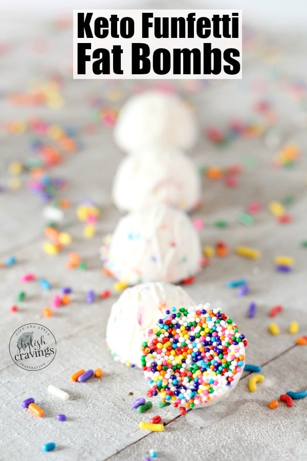 Keto Funfetti Fat Bombs