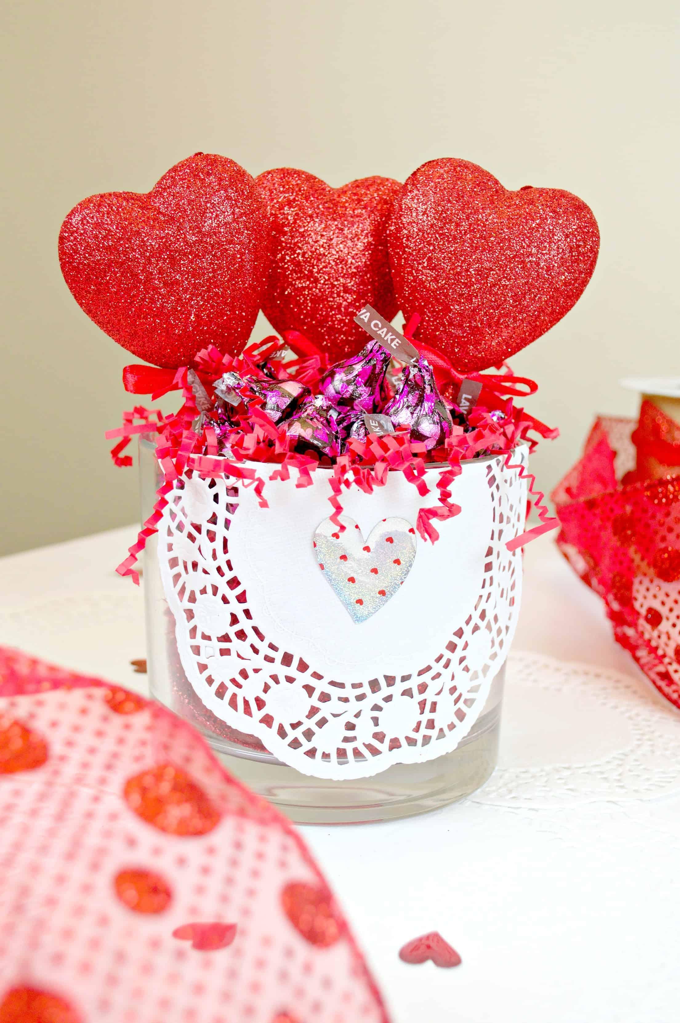 DIY Valentine's Day Candy Dish