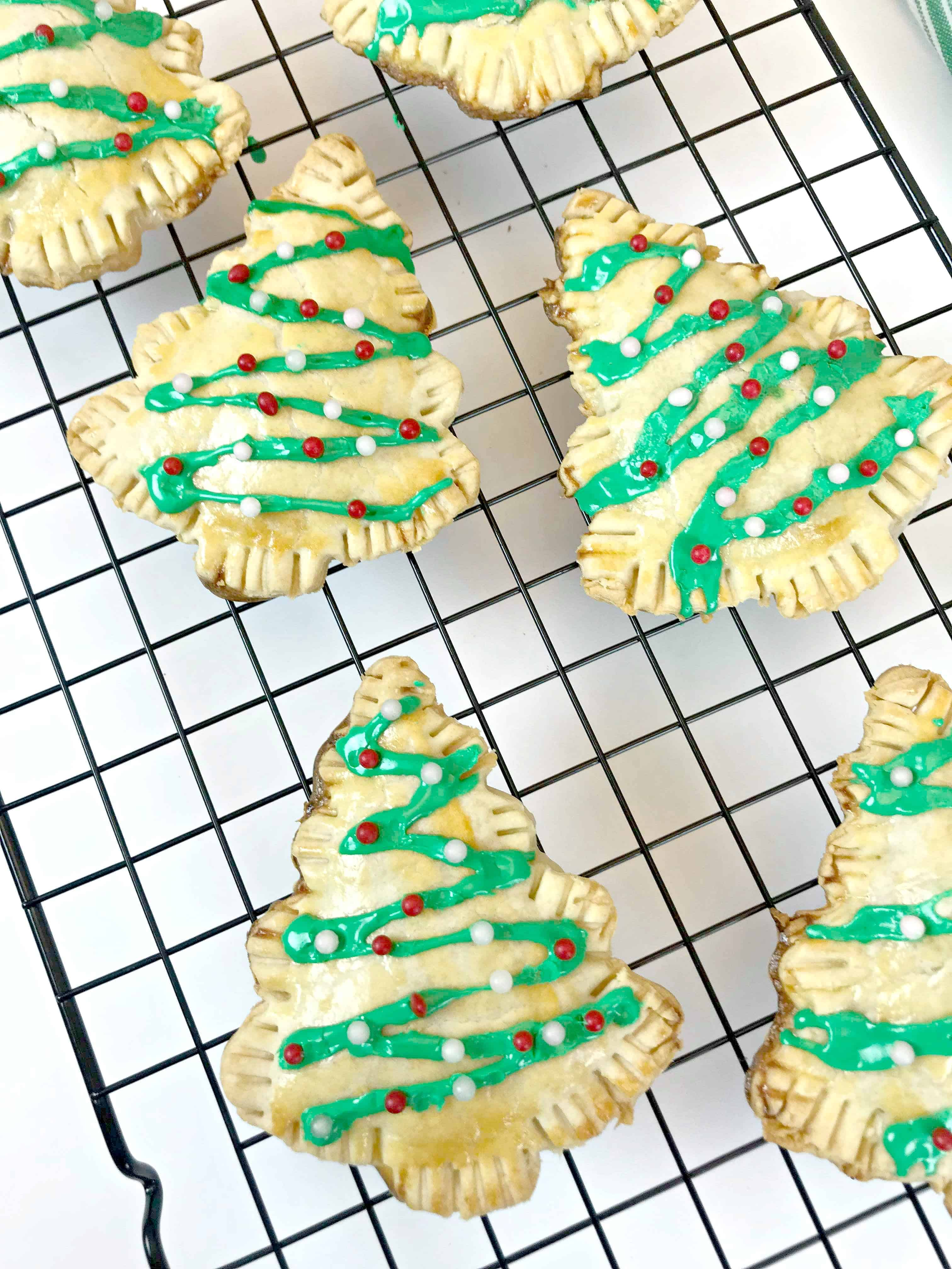 Easy Christmas Tree Pastries