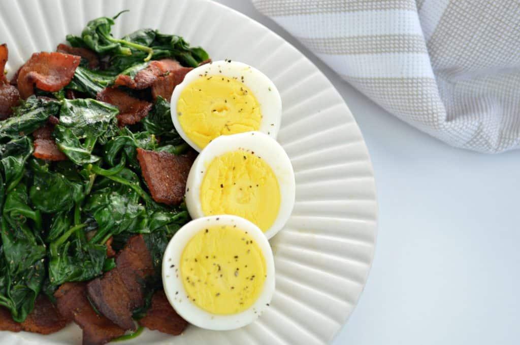 Warm Spinach & Bacon Salad