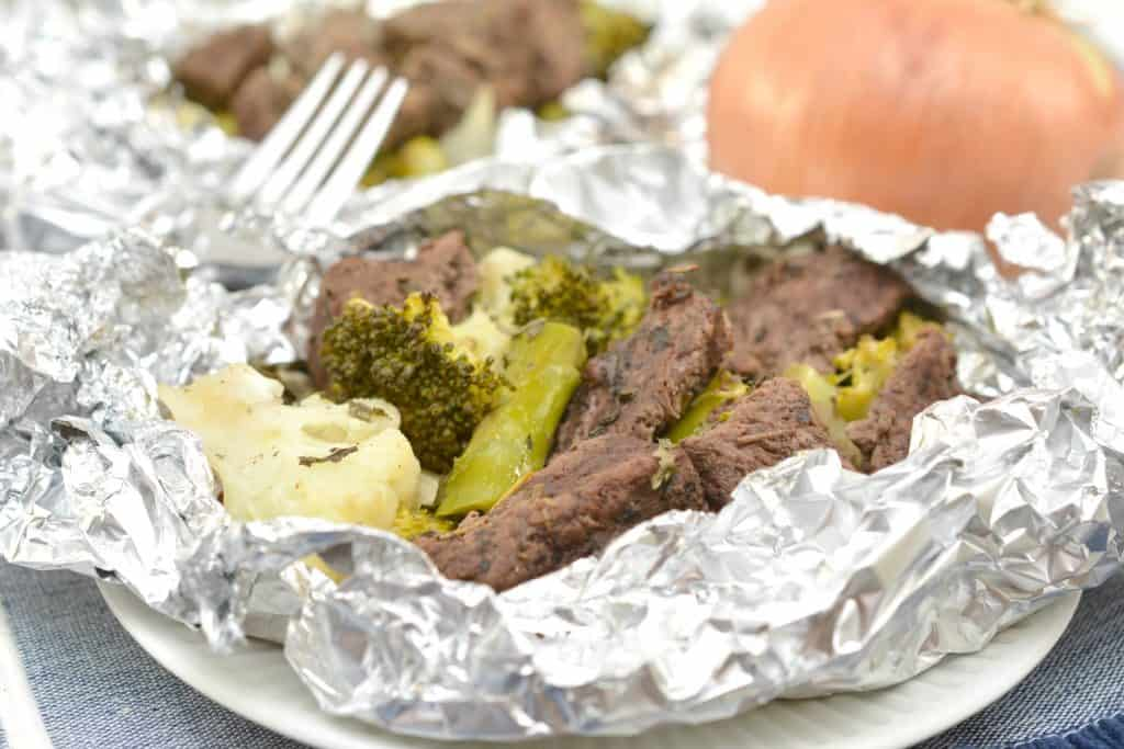 Keto Herb and Garlic Steak Packets