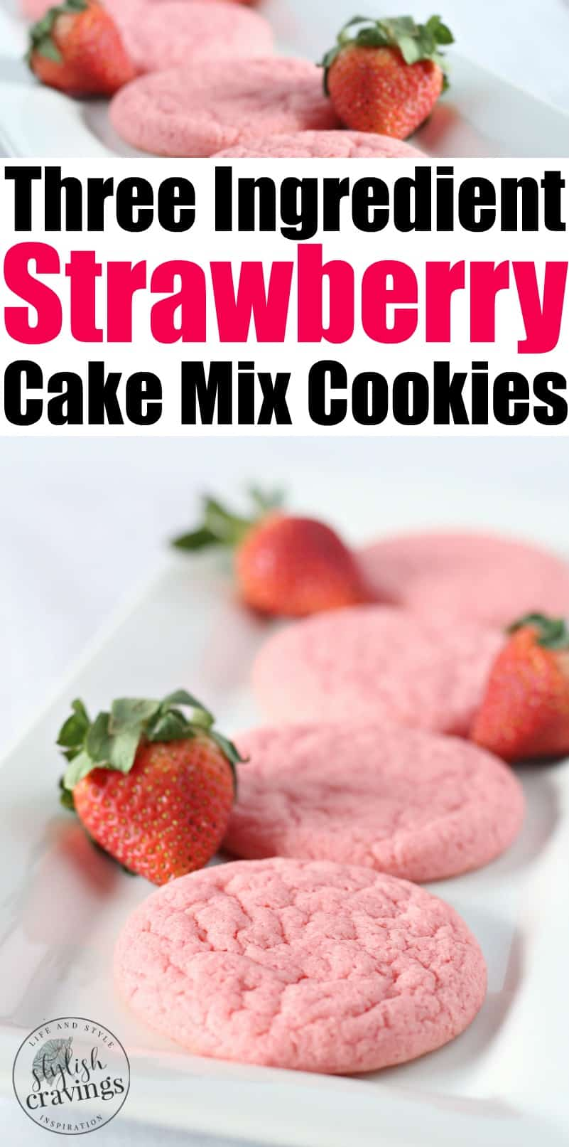 Three Ingredient Strawberry Cookies