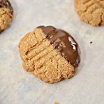 Keto Chocolate Dipped Peanut Butter Cookies