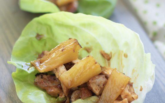 Pineapple Chicken Lettuce Wraps