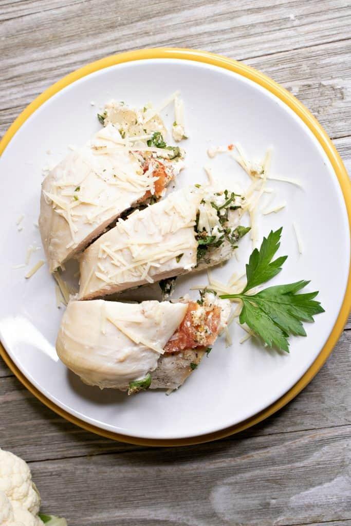 Pico De Gallo Stuffed Chicken