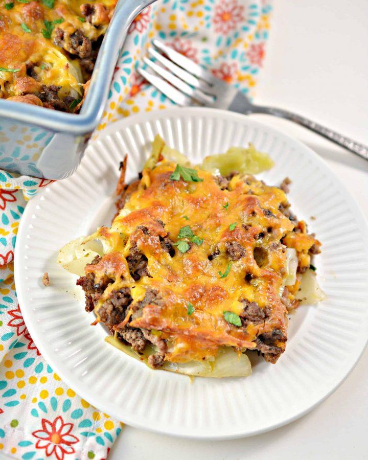 Keto Cabbage Beef Casserole - Easy Weeknight Dinner