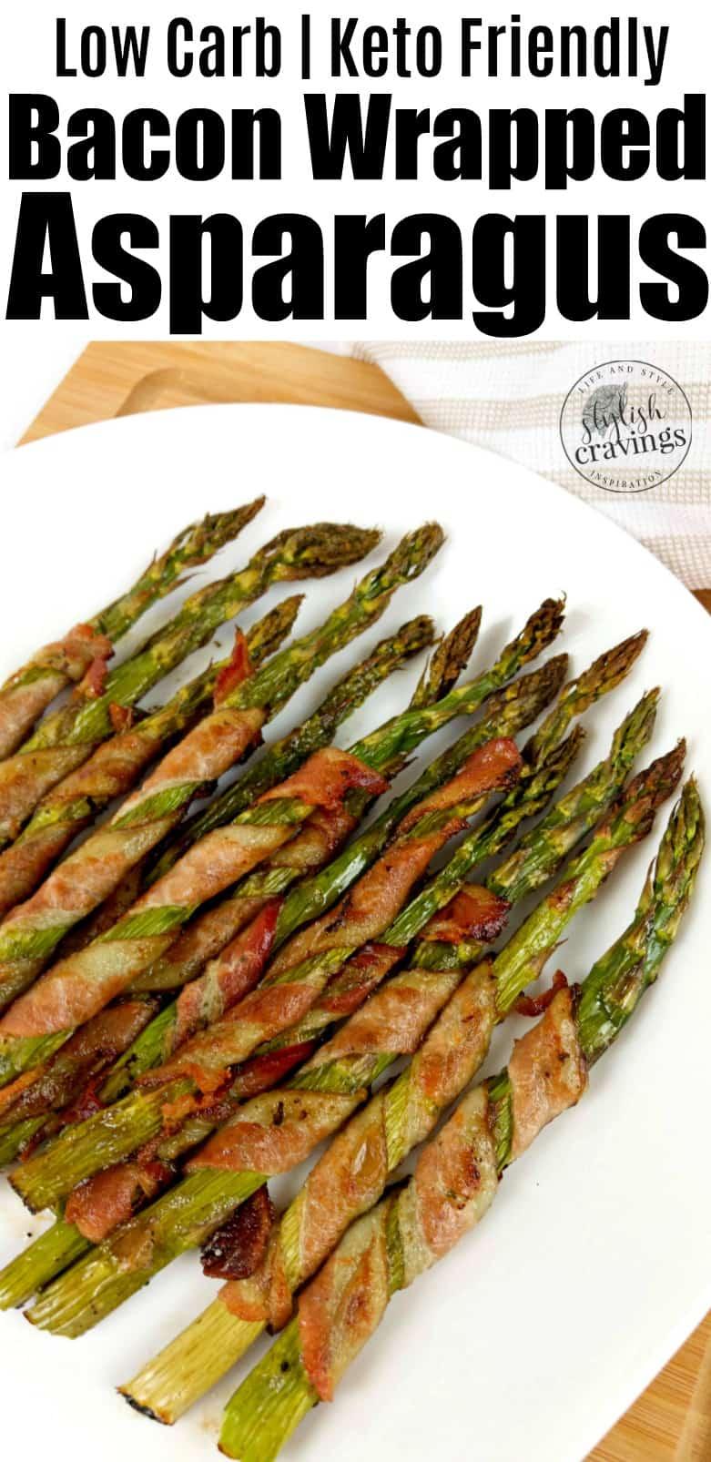 Keto Bacon Wrapped Asparagus