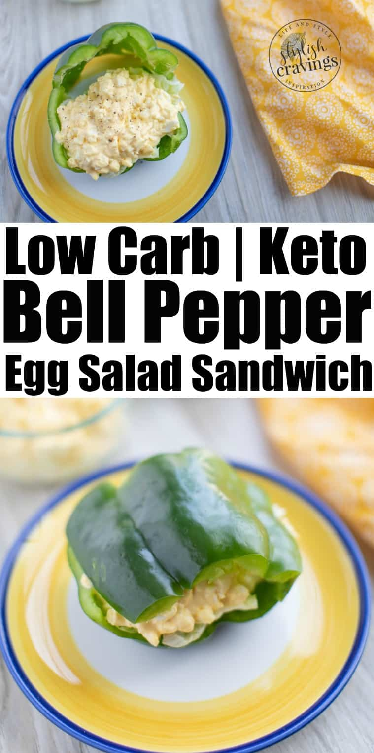 Bell Pepper Egg Salad Sandwich