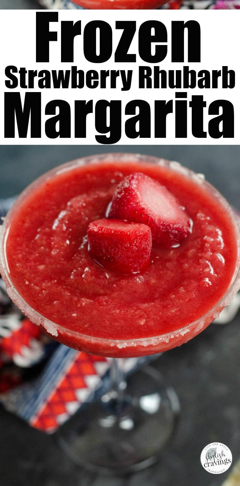 Frozen Strawberry Rhubarb Margarita