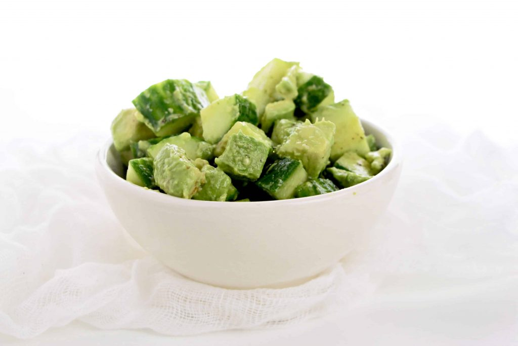 Low Carb Avocado Cucumber Salad