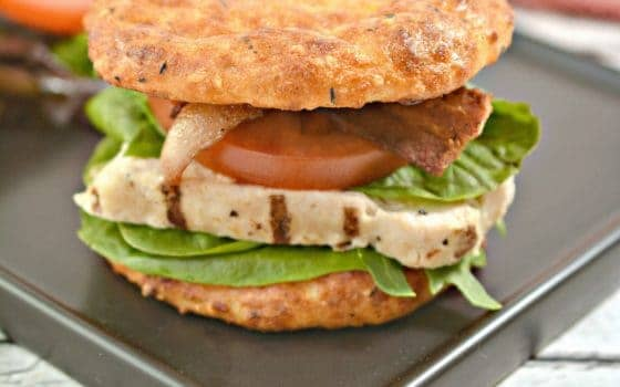 Grilled Chicken BLT On Keto Cheese Buns