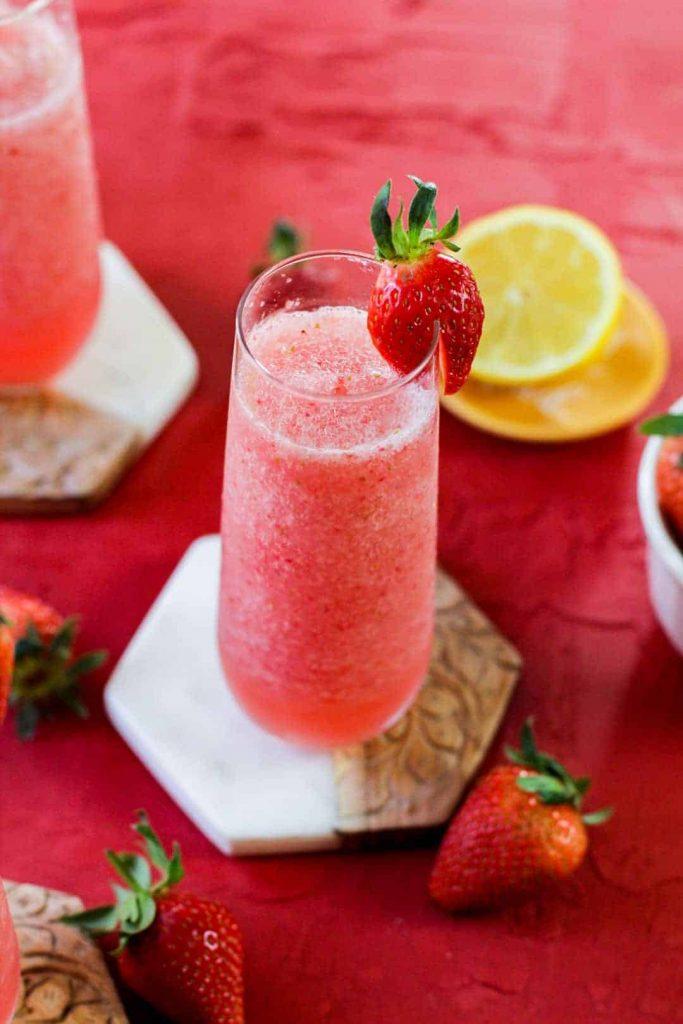 frozen rosé wine slushie
