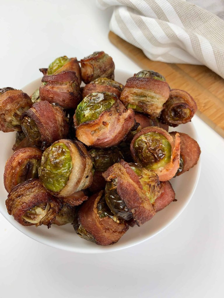 Air Fryer Bacon Wrapped Brussel Sprouts