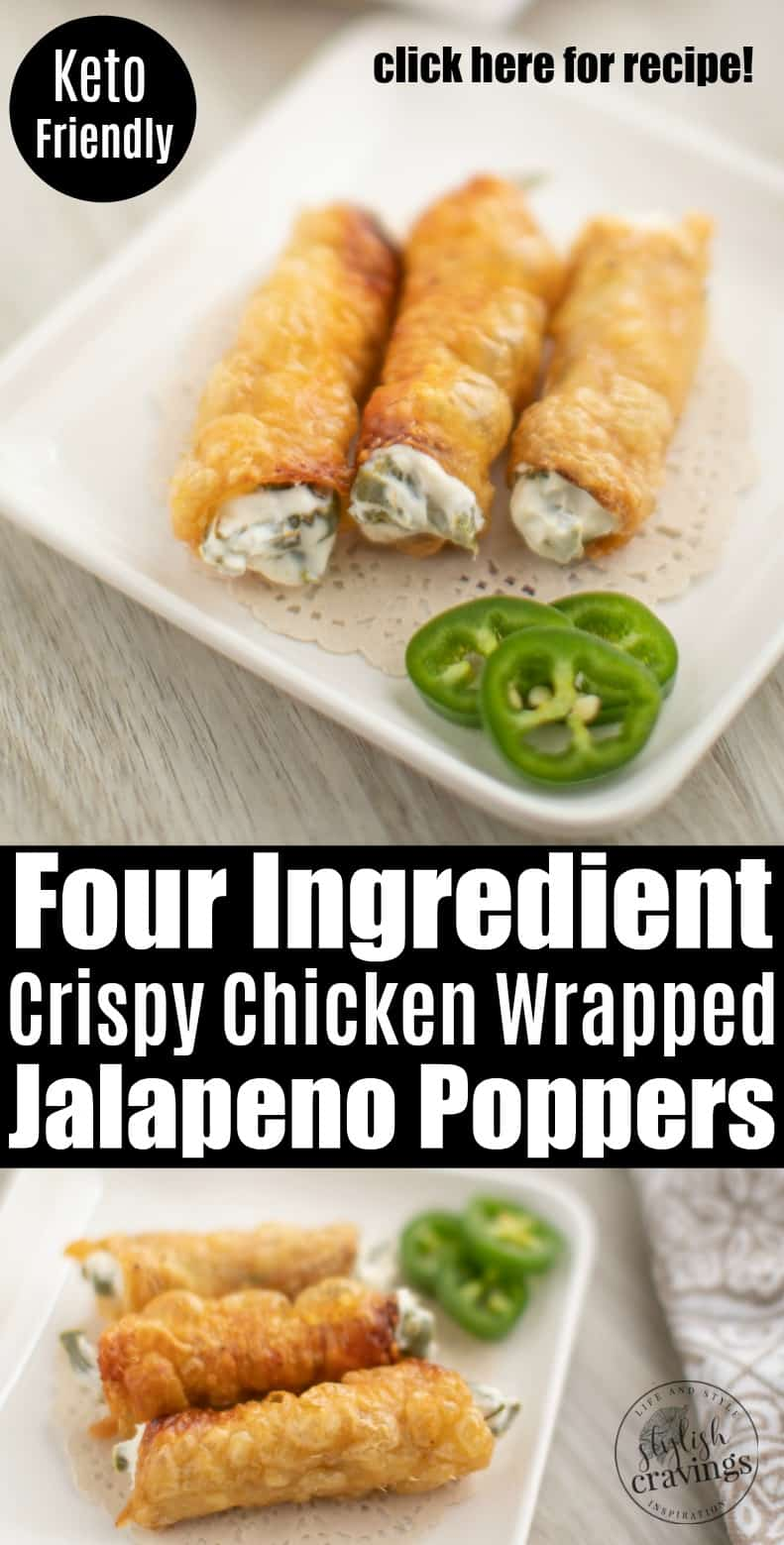 Crispy Chicken Wrapped Jalapeno Poppers