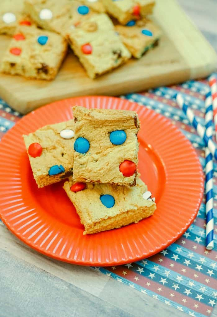 Red, White & Blue Cookie Bars