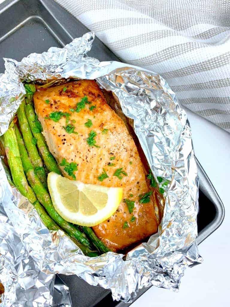 Lemon Salmon & Asparagus Foil Packs