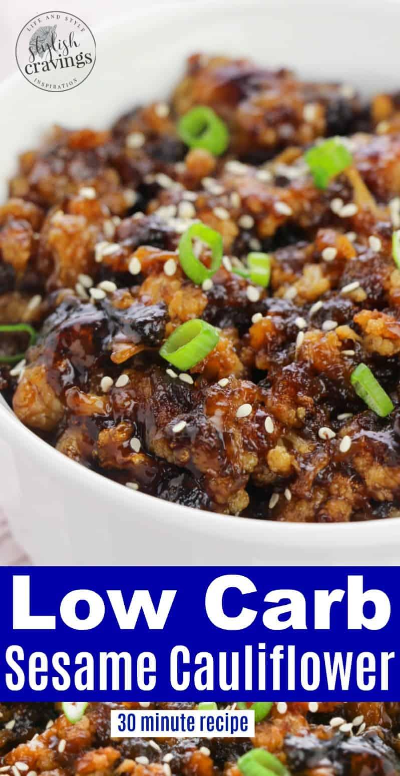 Sesame Cauliflower - Delicious Takeout Alternative!