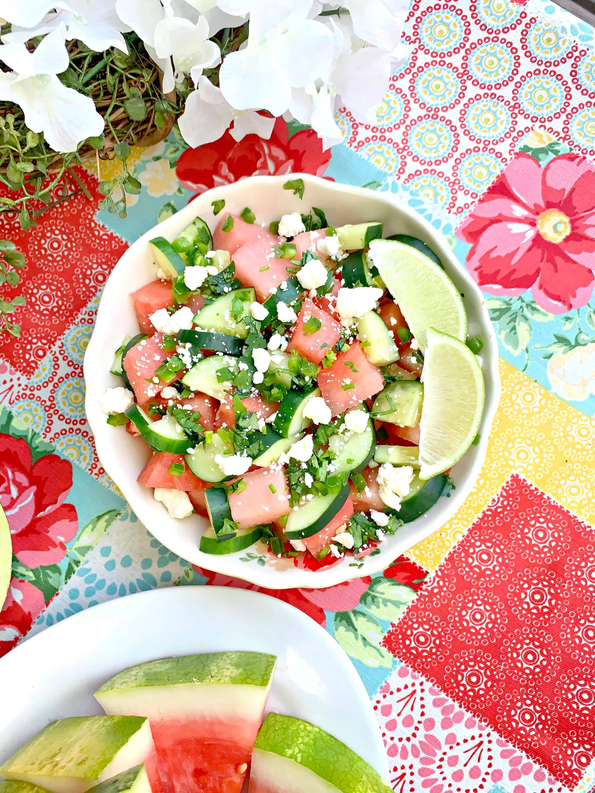 Our First Cookout + Watermelon Jalapeno Feta Salad