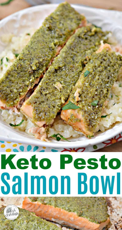 Keto Pesto Salmon Bowl