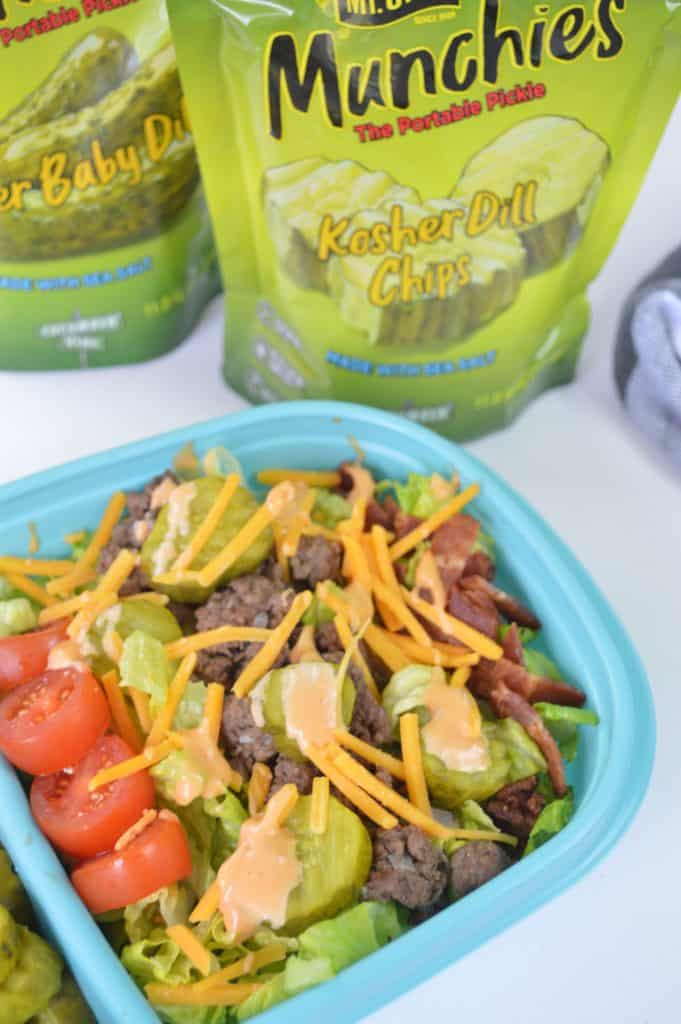 Meal Prep Low Carb Cheeseburger Salad