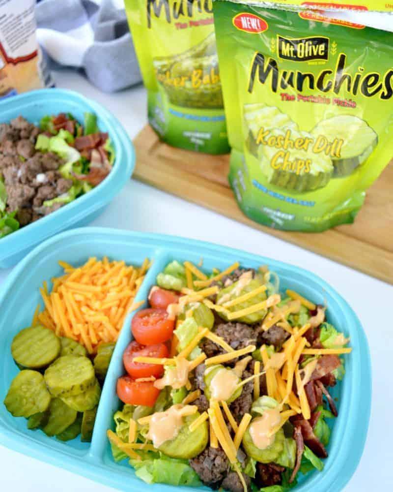 Meal Prep Low Carb Cheeseburger Salad