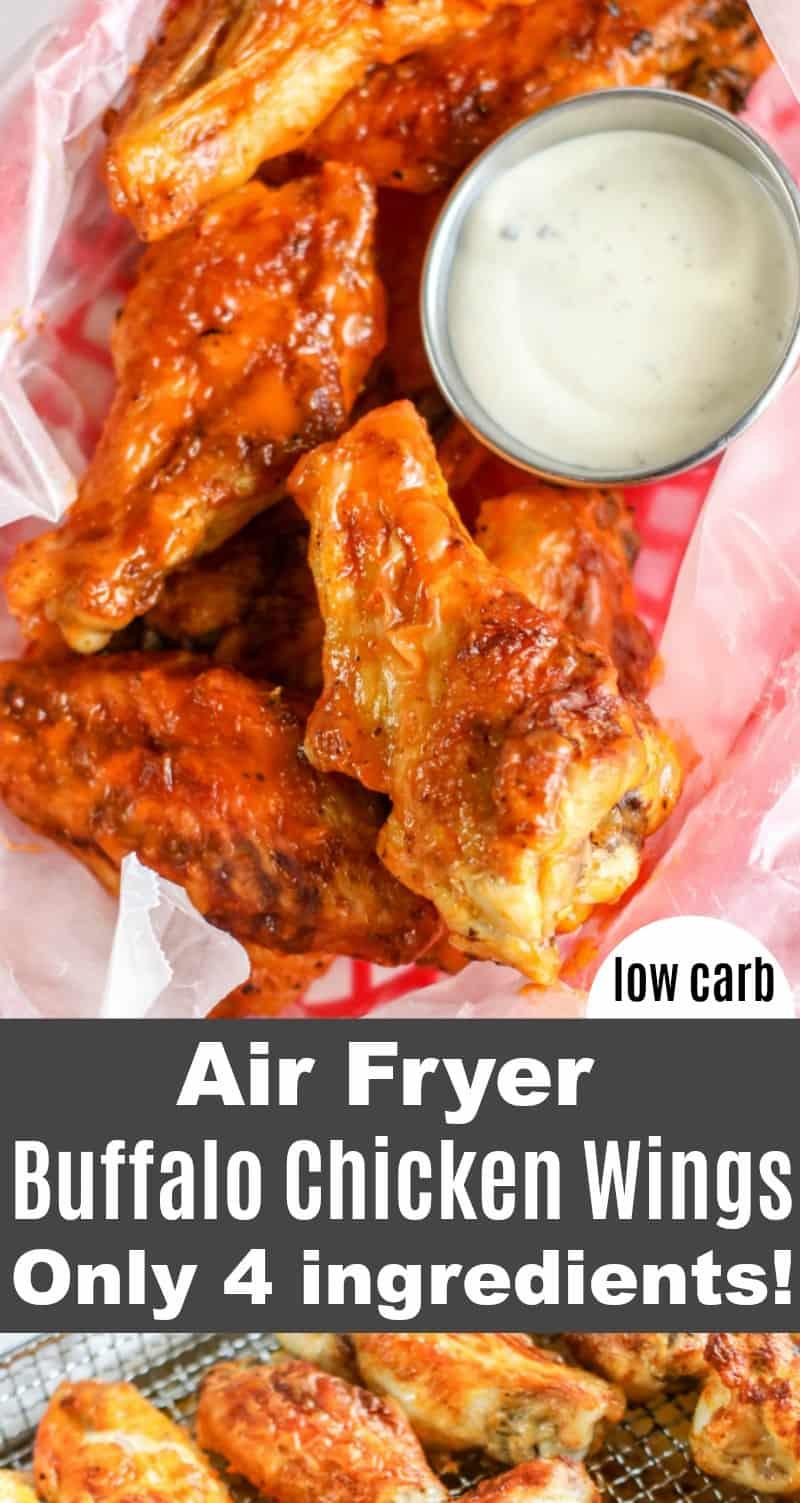 Low Carb Air Fryer Buffalo Wings Recipe