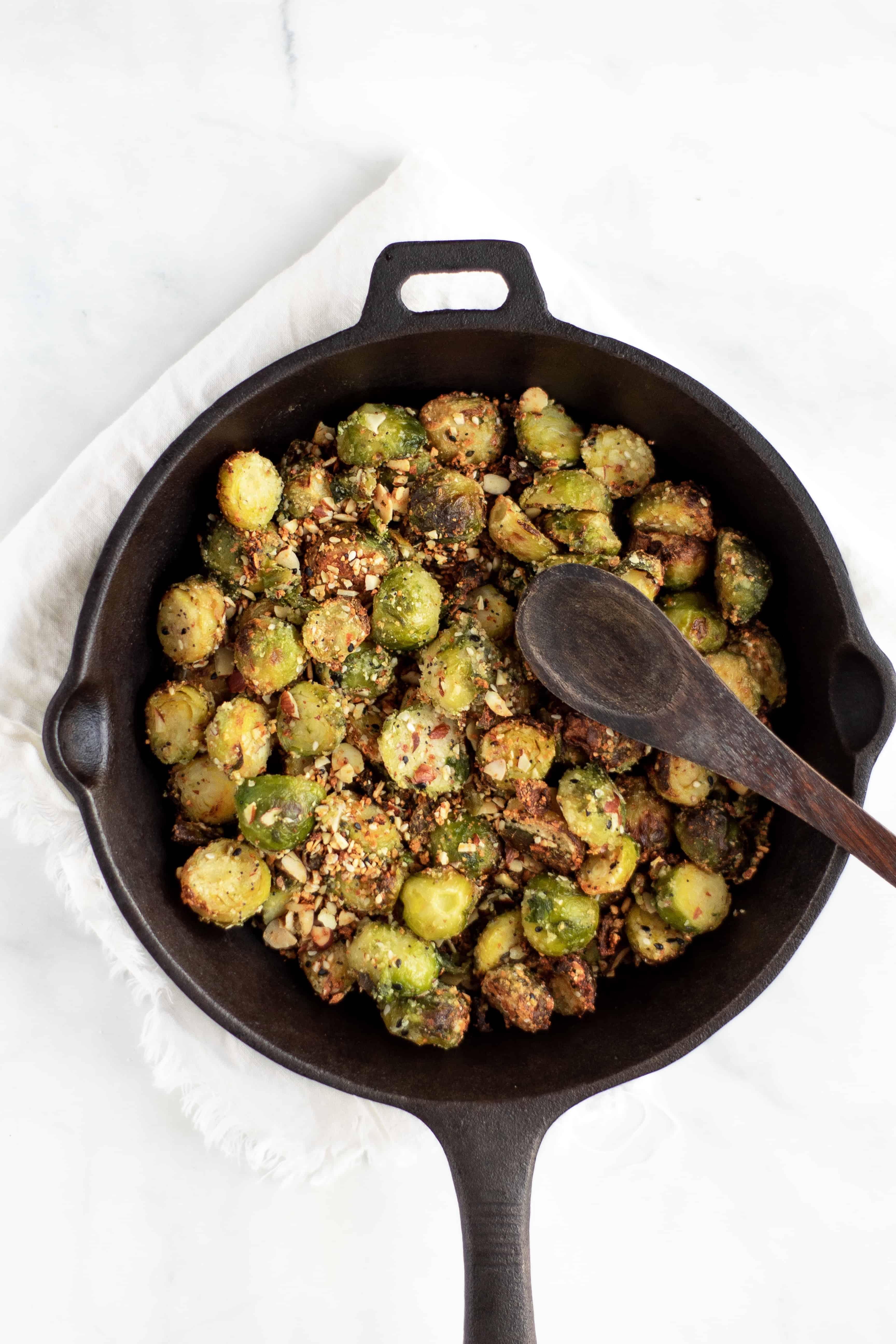 Air Fryer Crispy Keto Parmesan Brussel Sprouts