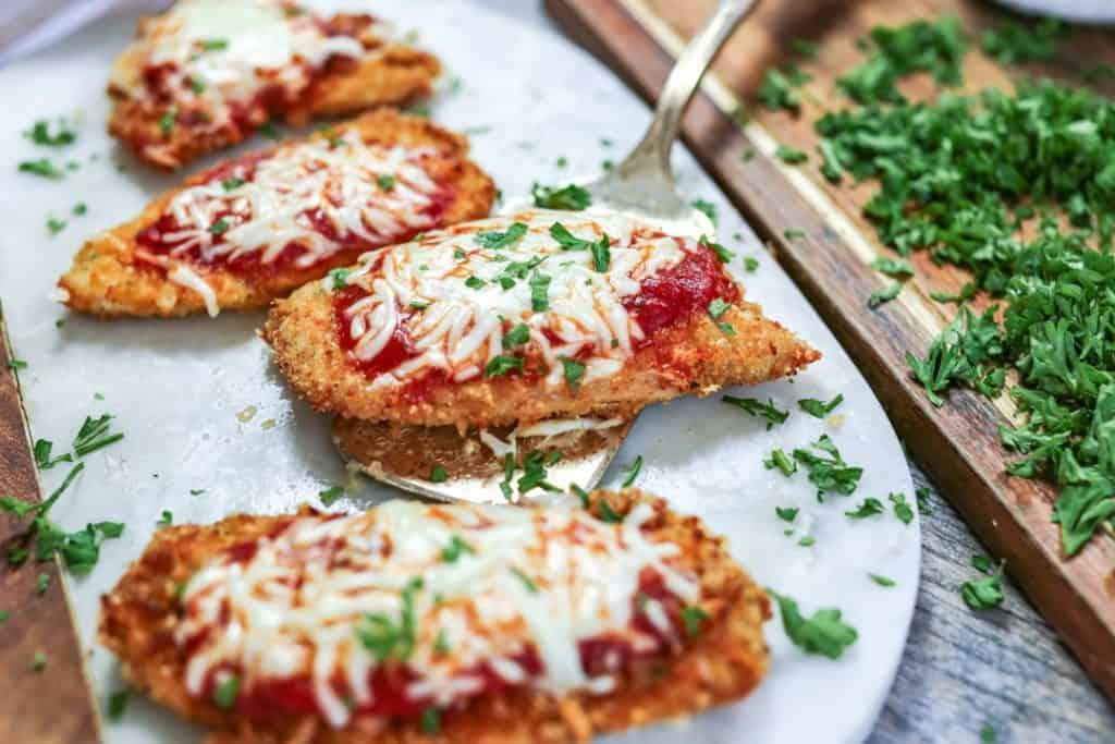 Air Fryer Keto Chicken Parmesan