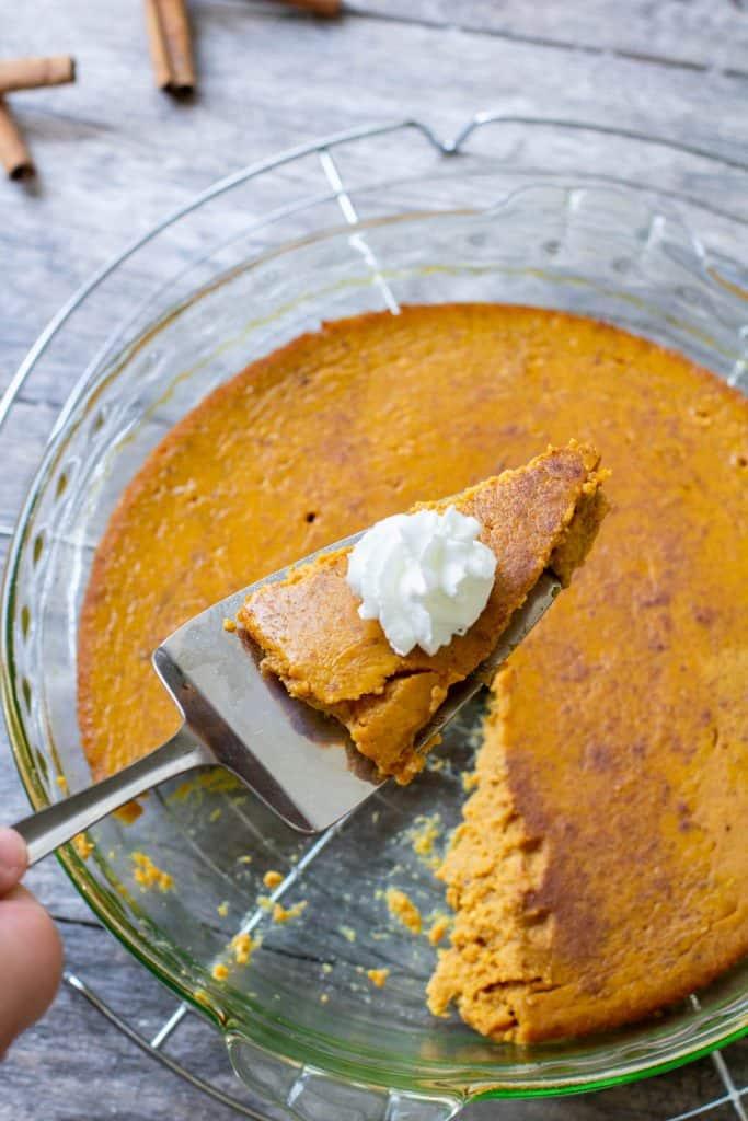 Low Carb Crustless Pumpkin Pie