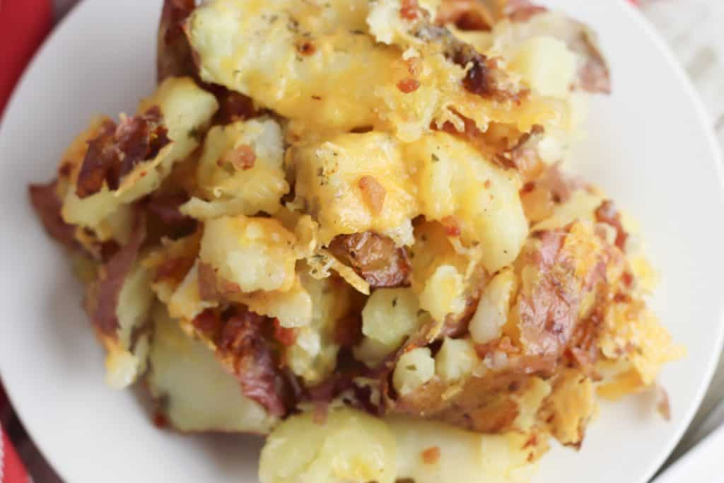 Bacon Cheddar Ranch Smashed Potatoes