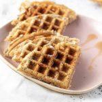 Keto Lemon Poppyseed Waffles
