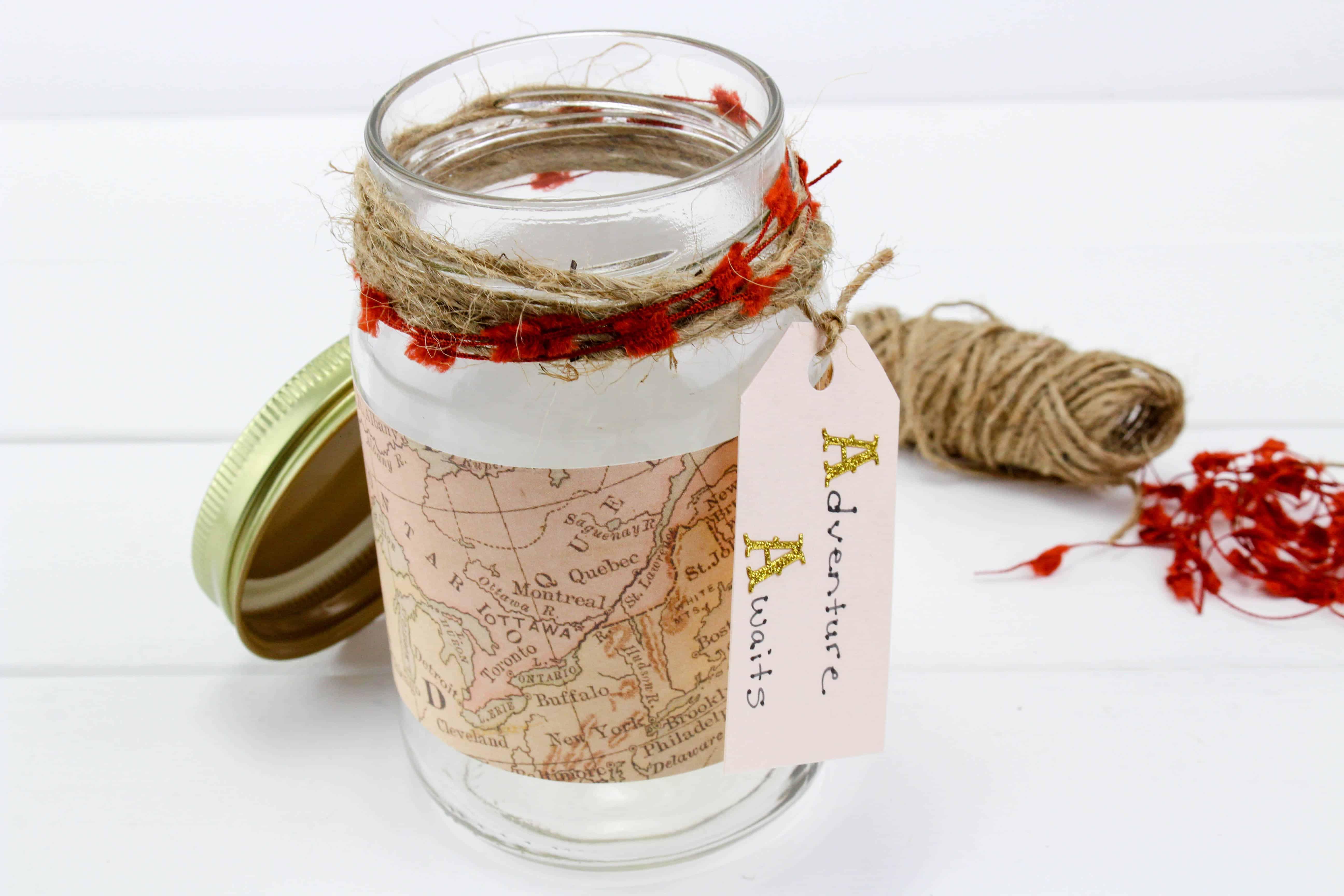 Travel Fund Mason Jar Craft