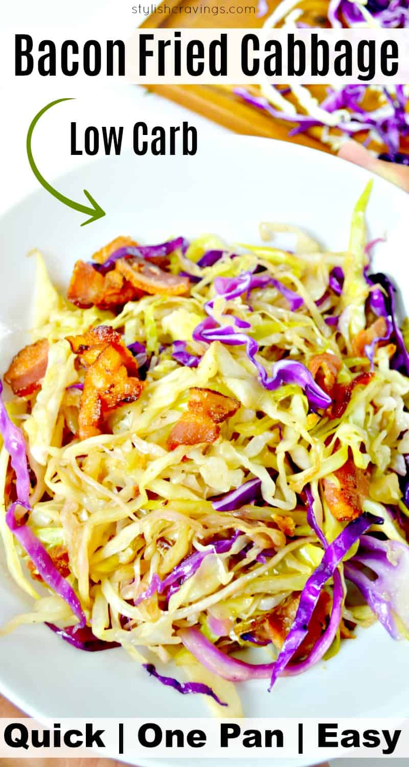 Low Carb Fried Cabbage With Bacon