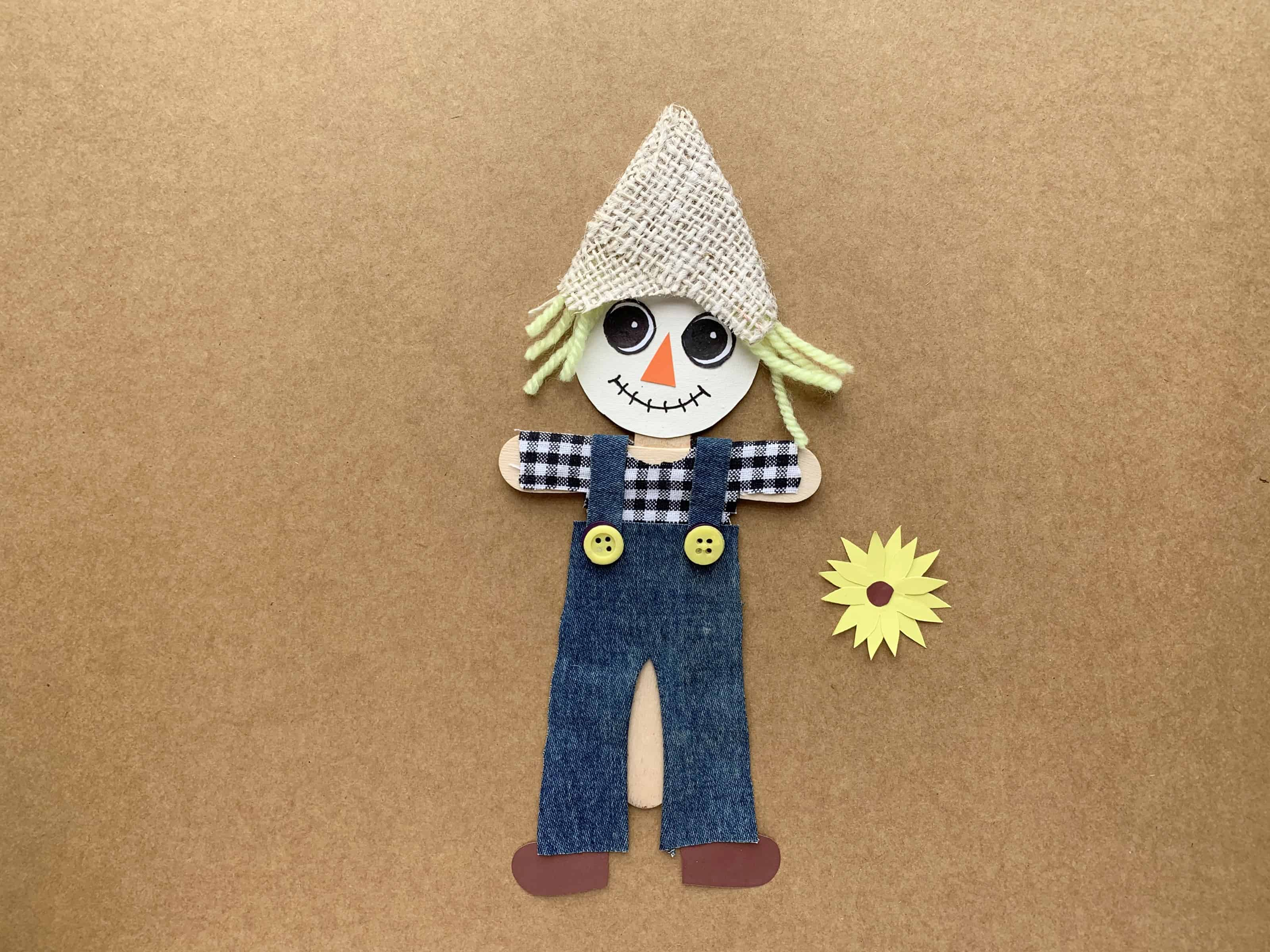 Easy Scarecrow Craft With Printable Template