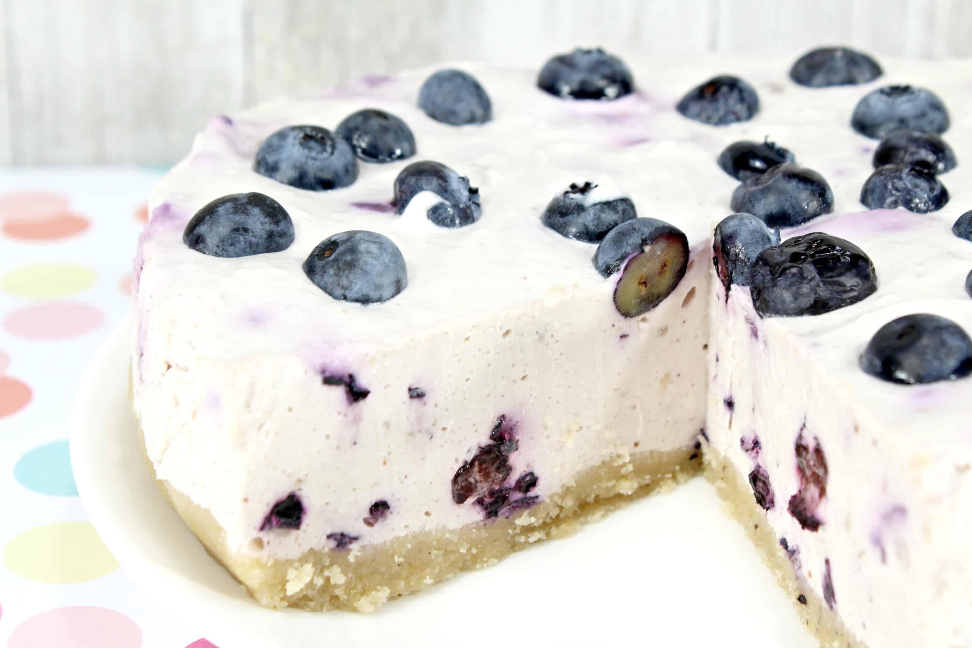 No Bake Keto Blueberry Cheesecake