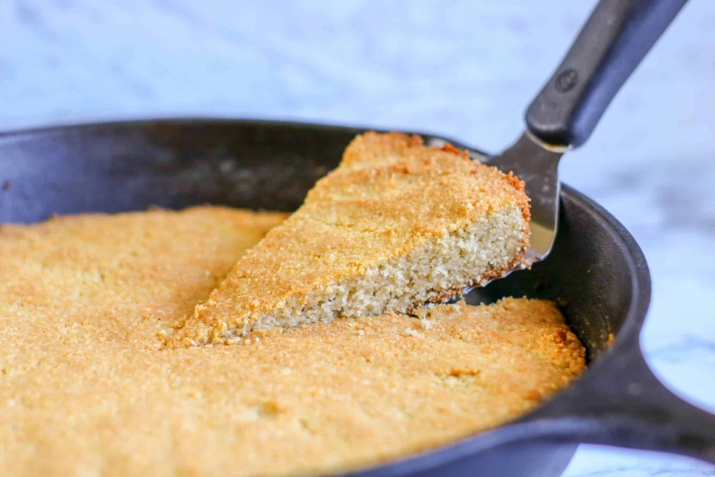 Easy Skillet Keto Cornbread