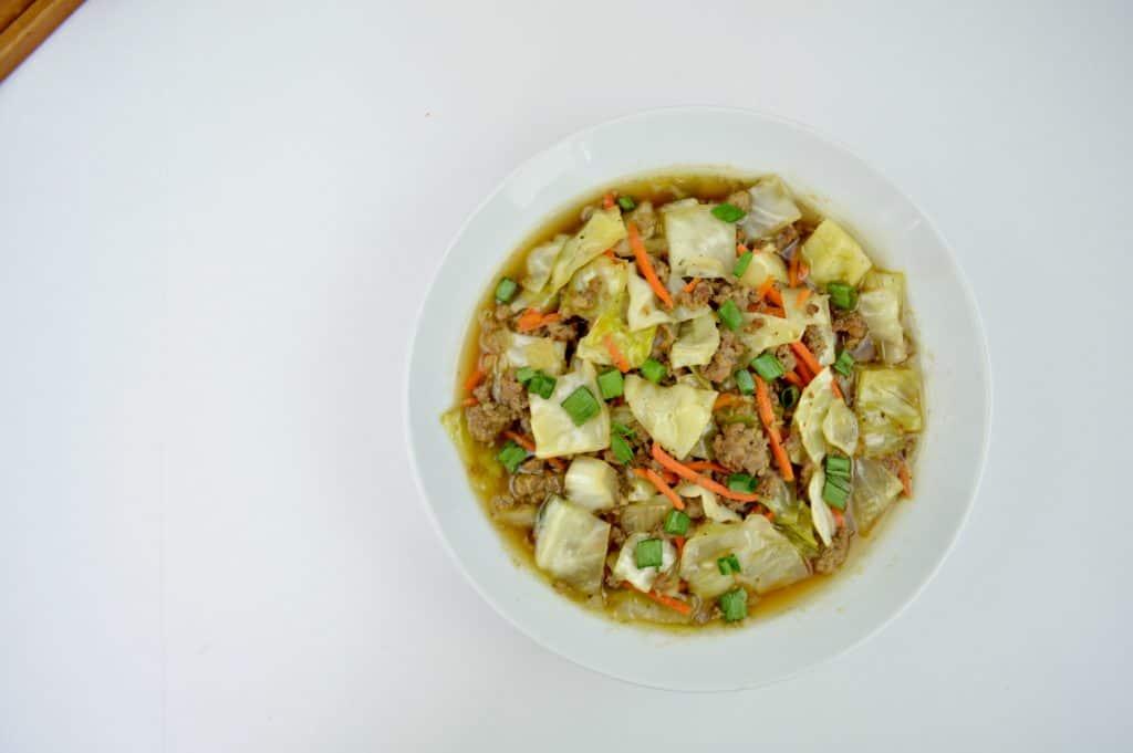 Keto Egg Roll Soup