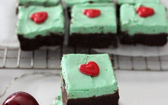 Grinch Low Carb Fudge Treats