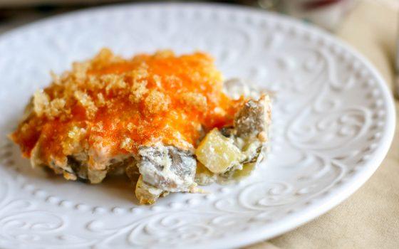 Low Carb Cheesy Squash Casserole