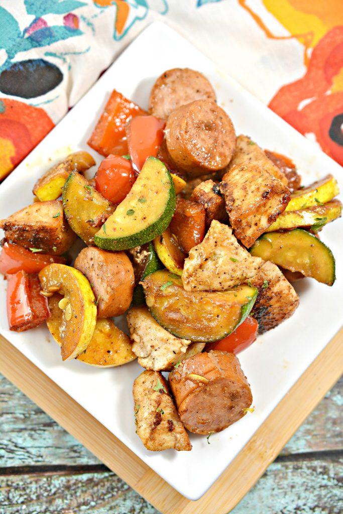 Keto Cajun Chicken and Sausage