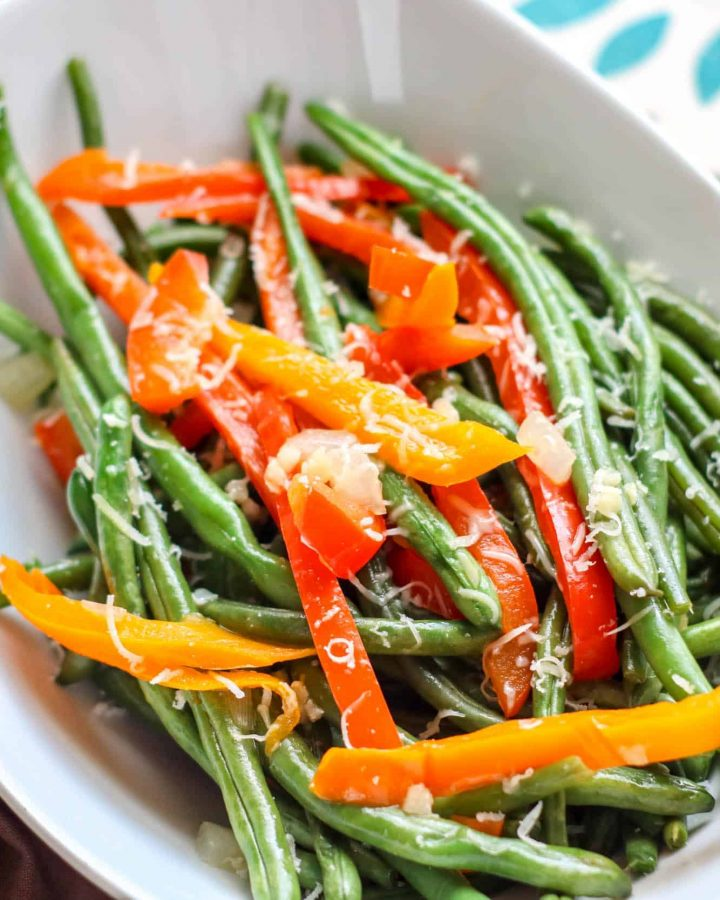 Parmesan Green Beans & Peppers