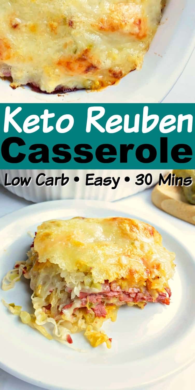 Easy Keto Reuben Casserole