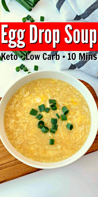 Easy Keto Egg Drop Soup