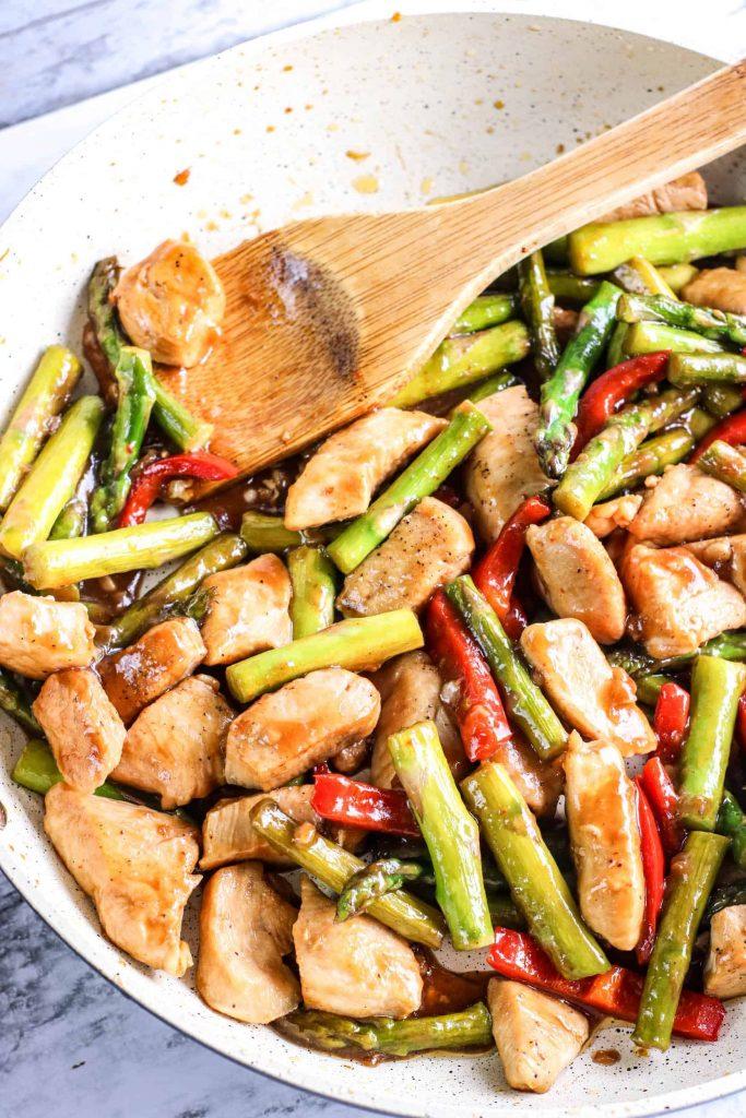 Low Carb Chicken Asparagus Stir Fry