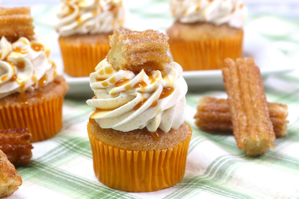 Easy Churro Cupcakes Recipe